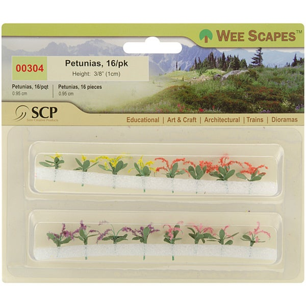 Wee Scapes Miniature Petunias (Pack of 16)