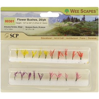 Wee Scapes Miniature Flower Bushes (Pack of 20)