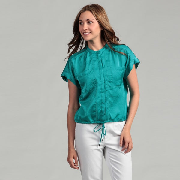 Kenneth Cole Women's Aquamarine Woven Shirt