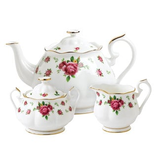 Royal Albert New Country Rose White 3-piece Tea Set