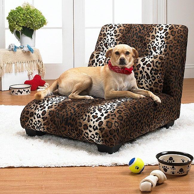 Enchanted Home Pet Leopard The Elliot Chaise