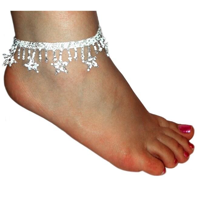 Glass Bead Stars Anklet (Guatemala)
