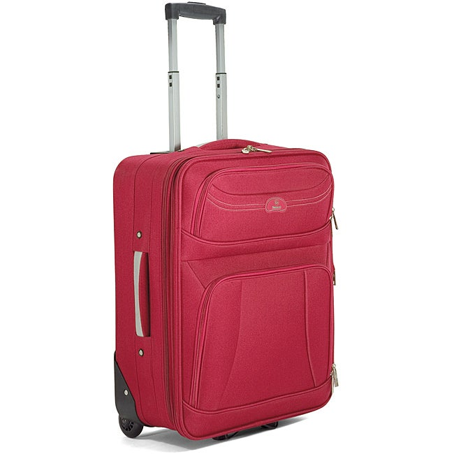 20-inch Benzi Red Polyester Lightweight Expandable Carry-on Upright