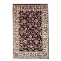 Herat Oriental Indo Hand-knotted Mahal Wool Rug (5'10 x 8'10) - 5'10 x 8'10