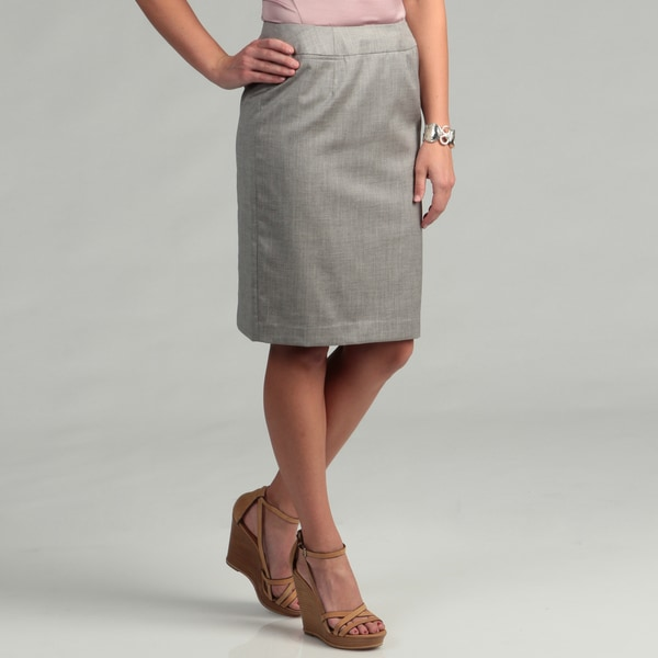 Calvin Klein Women's Polished Granite Straight Skirt