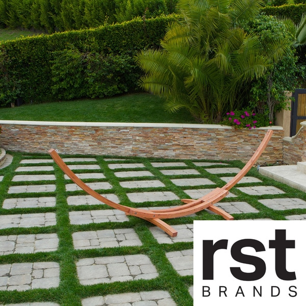 RST Outdoor Cypress Wood Arc Hammock Stand
