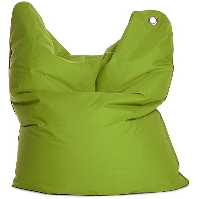 Sitting Bull Medium Bull Green Bean Bag Chair