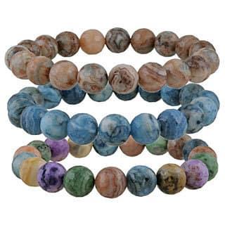 Glitzy Rocks Crazy Lace Agate Bead Stretch Bracelet|https://ak1.ostkcdn.com/images/products/6638584/P14202276.jpg?impolicy=medium