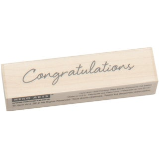 Hero Arts Little Greetings Congratulations Mounted Rubber Stamp