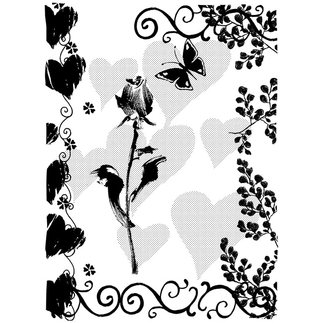 Penny Black Words Sweet Rubber Stamp