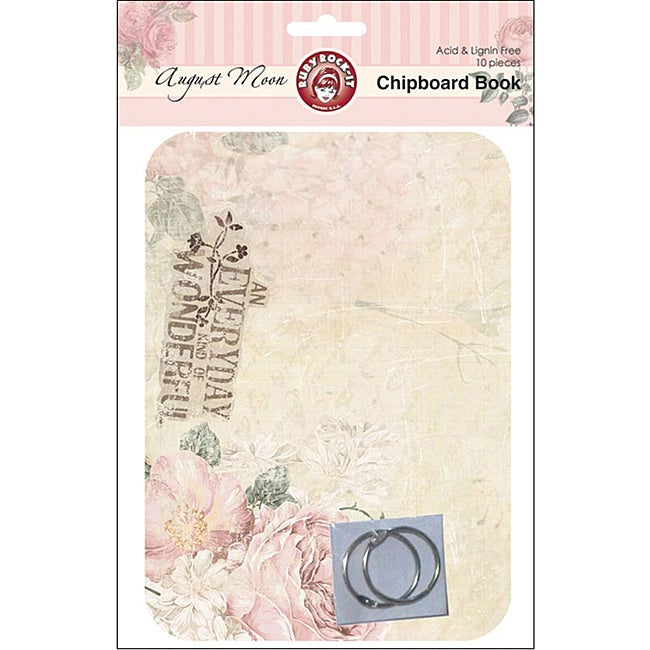 August Moon Chipboard Book (Set of 8 Sheets & 2 Rings)