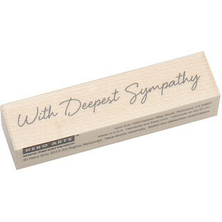 Hero Arts Little Greetings With Deepest Sympathy Mounted Rubber Stamp