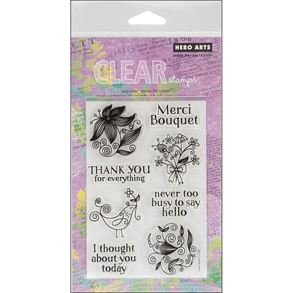 Hero Arts Merci Bouquet Clear Stamps