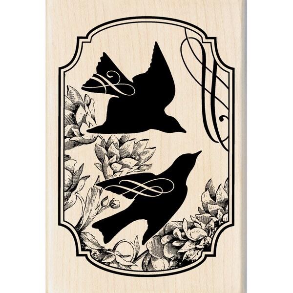 Inkadinkado Songbird Print Mounted Rubber Stamp