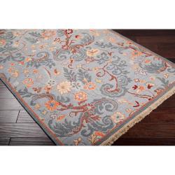 Hand-knotted Blue Santana Est New Zealand Wool Rug (8' x 10')