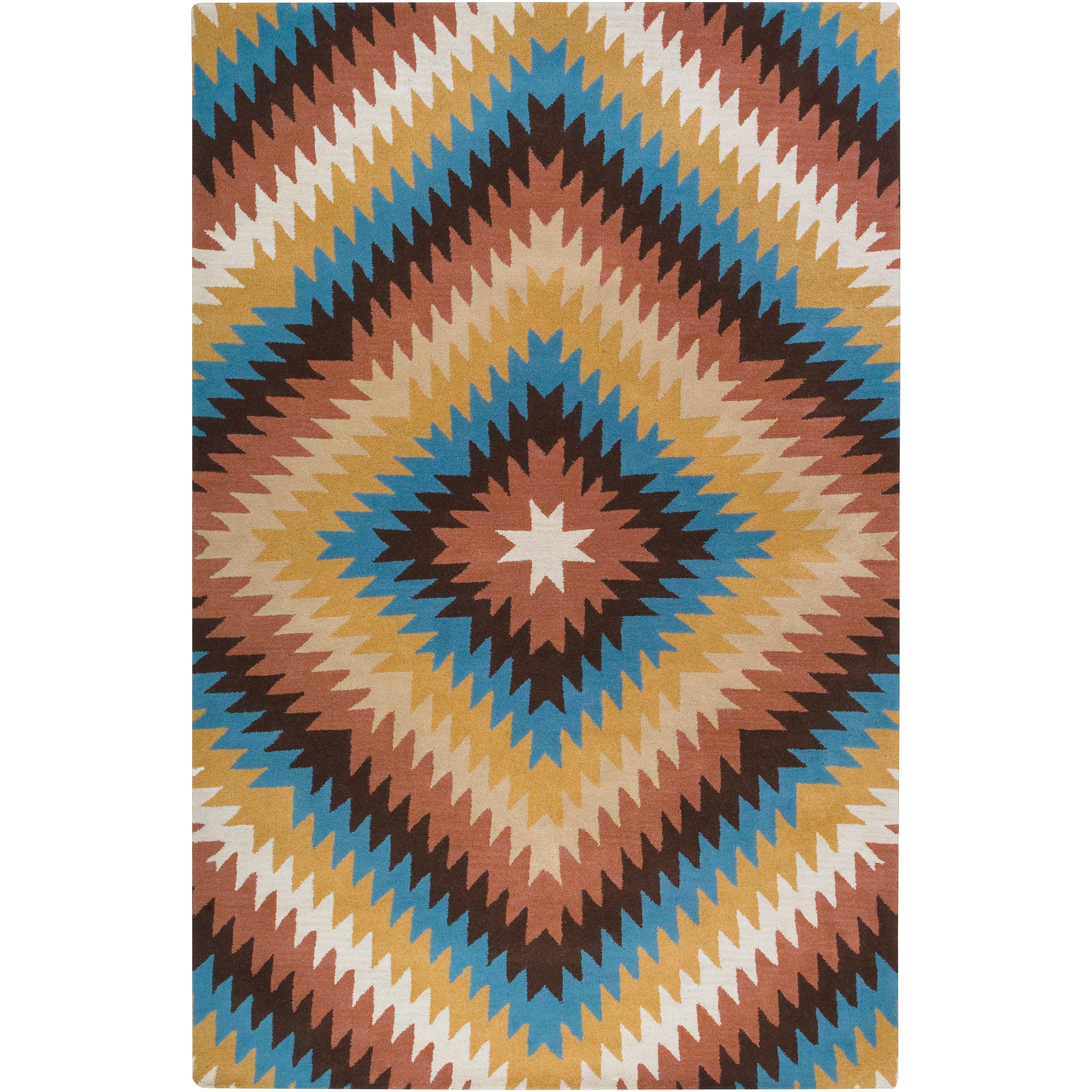 Thumbnail Dick Idol Hand-tufted Southwestern Aztec Texan4010 Wool Rug  (3' ...