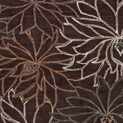 Hand-tufted Brown Amerian Polyester Rug (5' x 8')