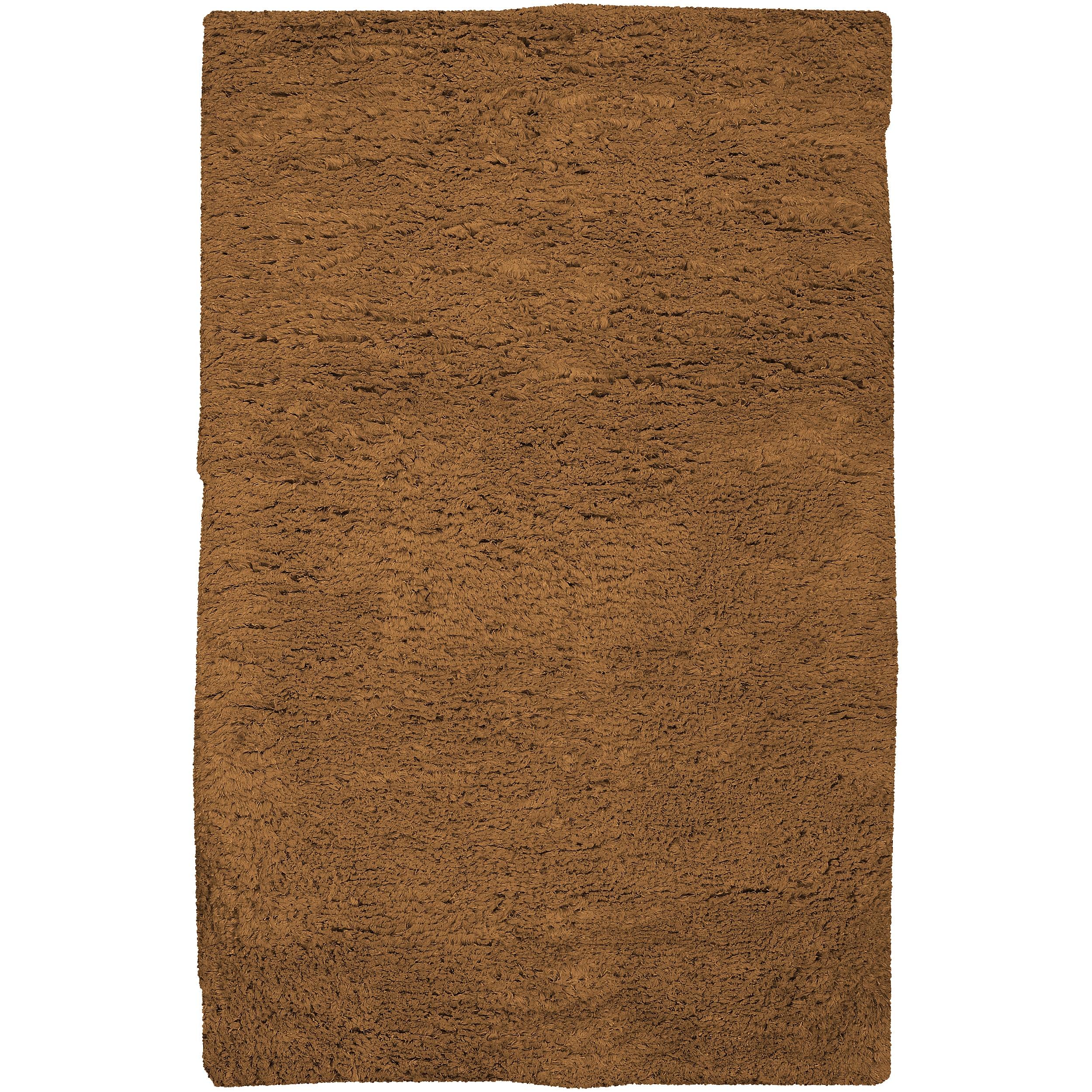 Hand-woven Brown Ashford Plush Shag Wool Rug (8' x 10'6 )