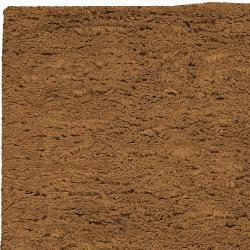 Hand-woven Brown Ashford Plush Shag Wool Rug (8' x 10'6 ) - Thumbnail 2