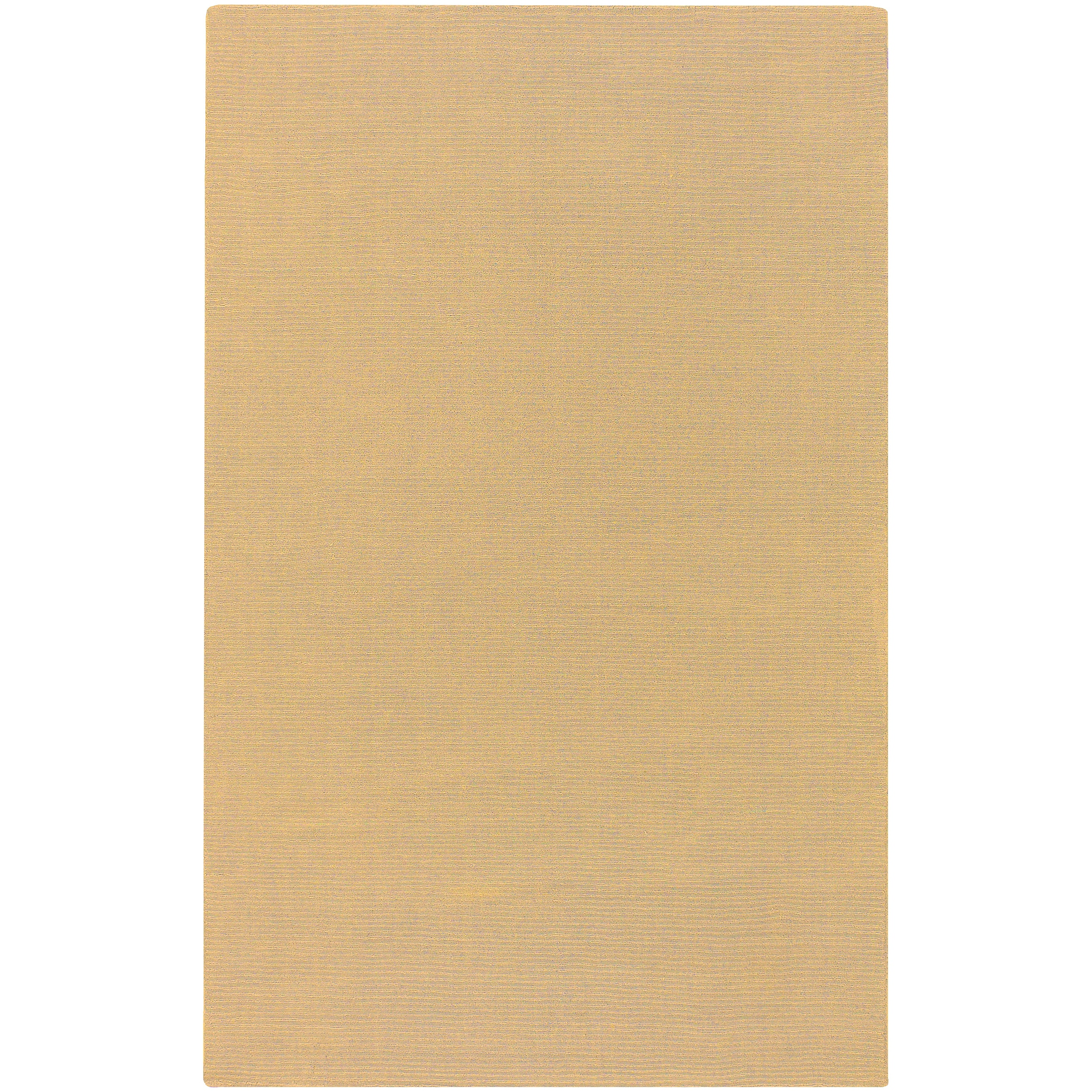 Hand-crafted Solid Beige Casual Majestic Wool Area Rug - 8' x 11'