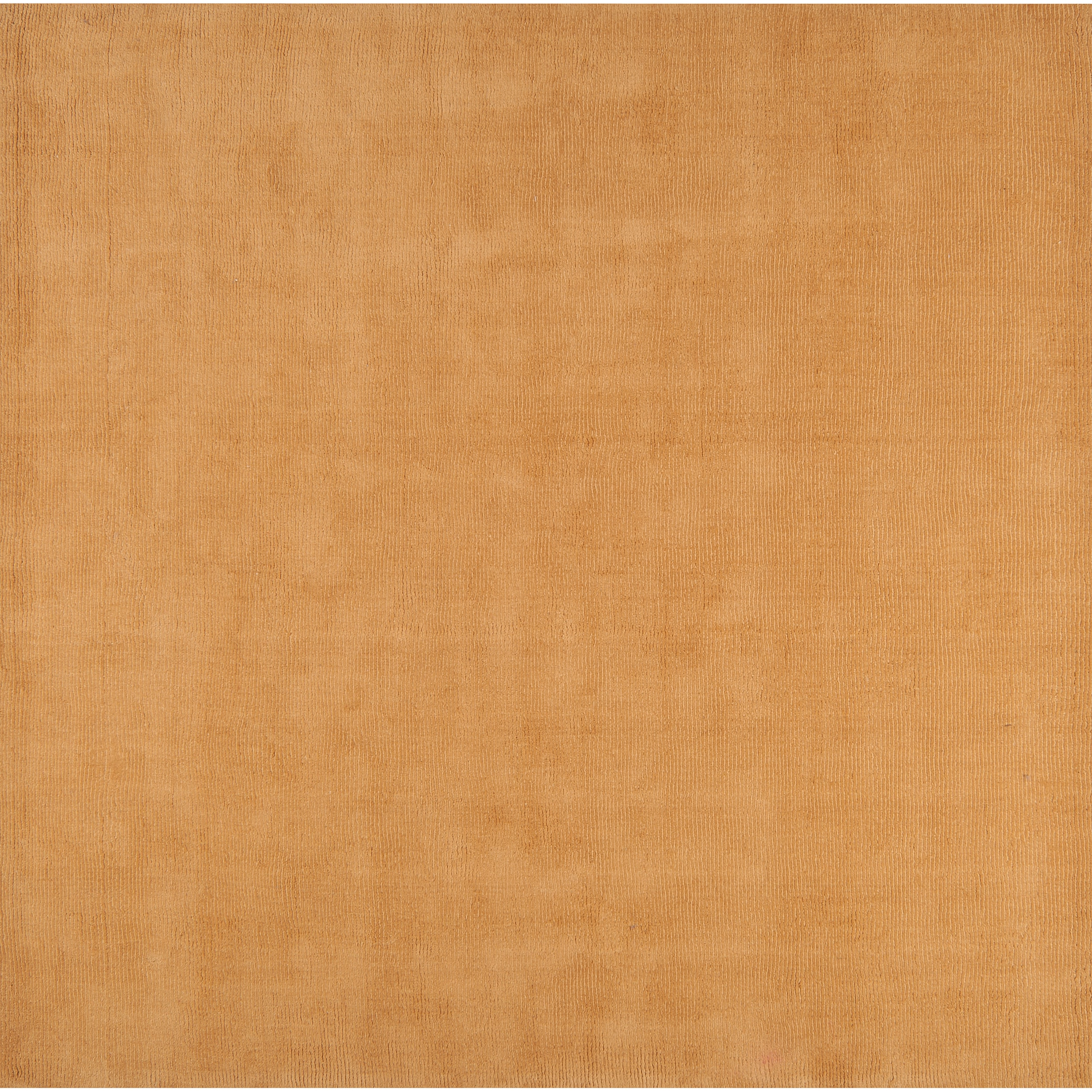 Hand-crafted Solid Beige Casual Majestic Wool Rug (8' Square)
