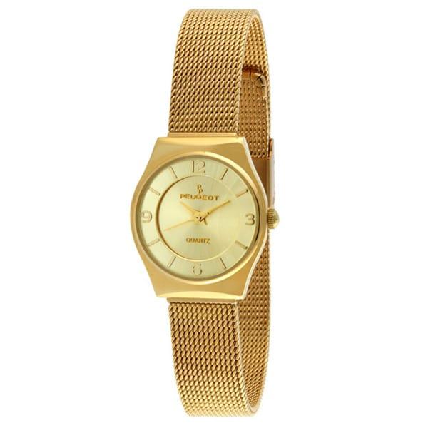 Peugeot Women's Goldtone Mesh Bracelet Watch
