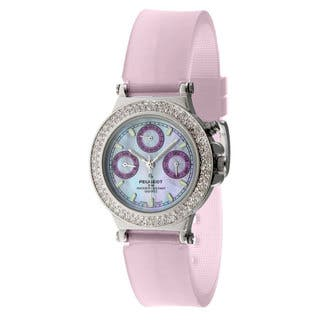 Peugeot Women's Silvertone Multi-Function Watch with Rubber Strap https://ak1.ostkcdn.com/images/products/6639281/P14202938.jpg?impolicy=medium