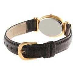 Peugeot Women's Goldtone Leather Strap Watch - Thumbnail 2