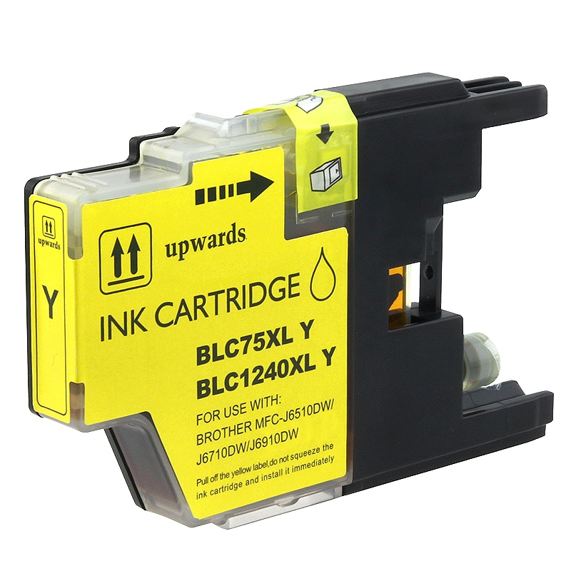 INSTEN Brother compatible LC75Y High-yield Yellow Ink Cartridge