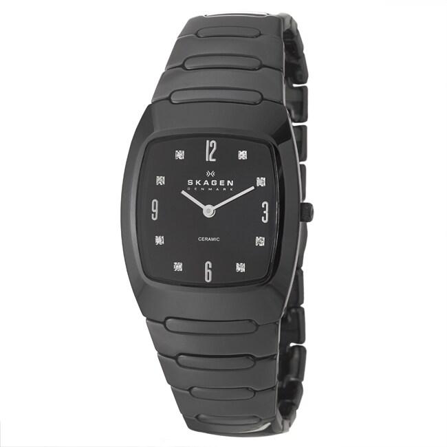 Skagen Men's 'Ceramic' Ceramic Black Ceramic Watch