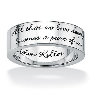 Inspirational Helen Keller Quote Message Ring in Stainless Steel Tailored|https://ak1.ostkcdn.com/images/products/6640795/P14204134.jpg?impolicy=medium