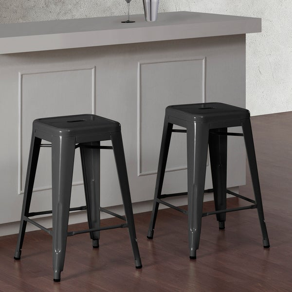 metal counter height stools canada with padded seat backless swivel charcoal grey set