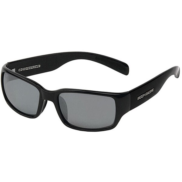 Body Glove 'Zanzibar' Men's Black Mirrored Polarized Sunglasses