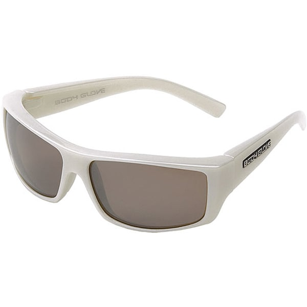 Body Glove 'Carmel' Men's White Mirrored Polarized Sunglasses