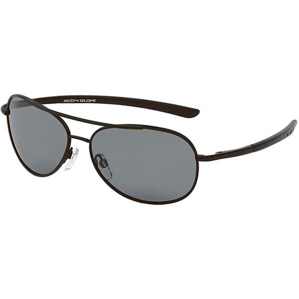 Body Glove 'Lauderdale A' Men's Matte Black/Smoke Polarized Sunglasses