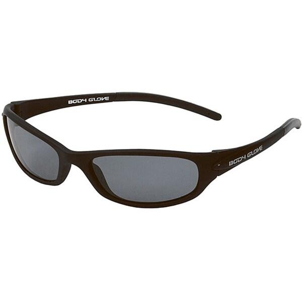 Body Glove 'Palm Beach A' Men's Matte Black/Smoke Polarized Sunglasses