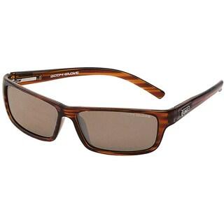 Body Glove 'Newport Beach' Men's Brown Stripe Polarized Mirrored Sunglasses