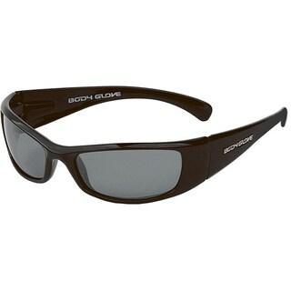 Body Glove 'Haya' Women's Metallic Black/Smoke Mirrored Polarized Sunglasses