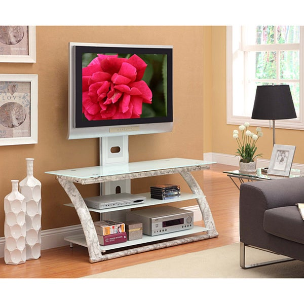Innovex Glass/ Metal 3-in-1 60-inch TV Stand