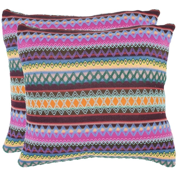 Safavieh Fantasia Brown 18-inch Decorative Pillows (Set of 2)