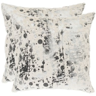 safavieh cosmos 18 inch white decorative pillows set of 2 free shipping today overstockcom 14204385 - White Decorative Pillows