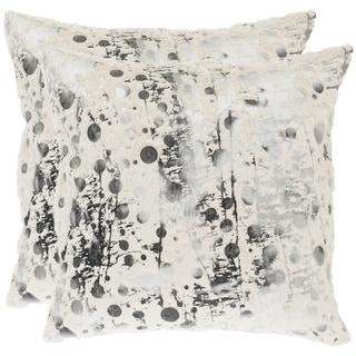 Safavieh Cosmos 18 Inch White Decorative Pillows (Set Of 2)