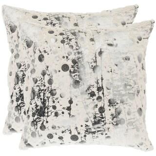 Elegant Safavieh Cosmos 18 Inch White Decorative Pillows (Set Of 2)