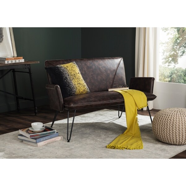 Safavieh Swirls 18-inch Black/ Yellow Decorative Pillows (Set of 2)