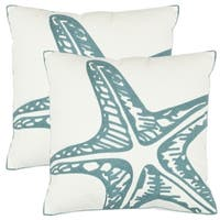 Safavieh Starfish 18-inch White Decorative Pillows (Set of 2)