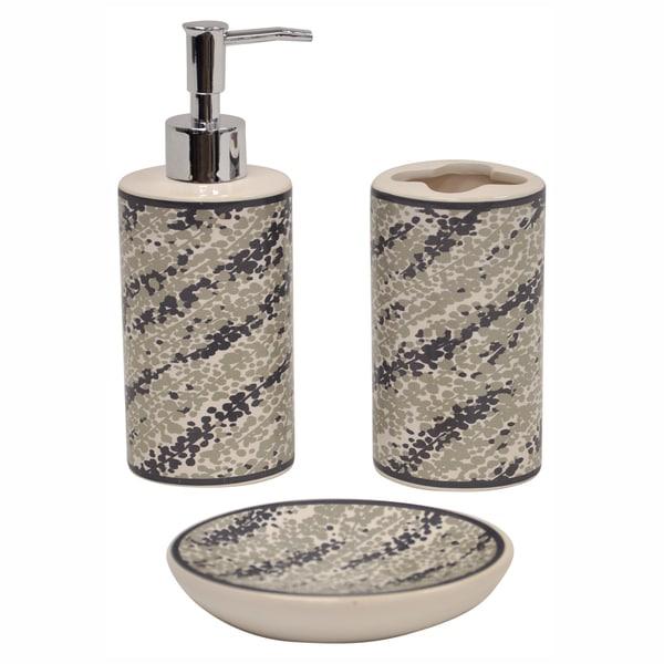 Rain Tan Ceramic Bath Accessory 3-piece Set