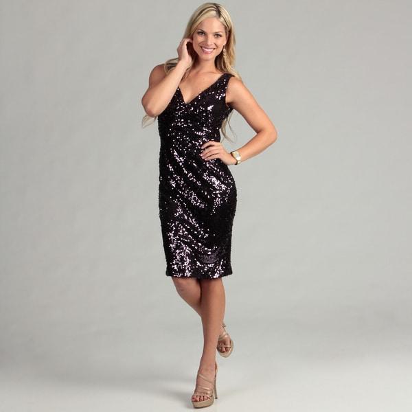 Eliza J Women's Purple Sequin Dress