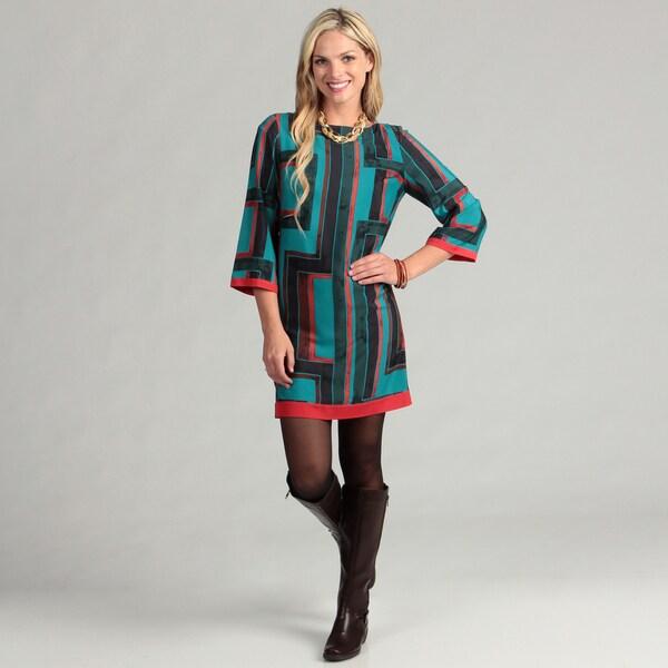 Eliza J Women's Geometric Printed Dress