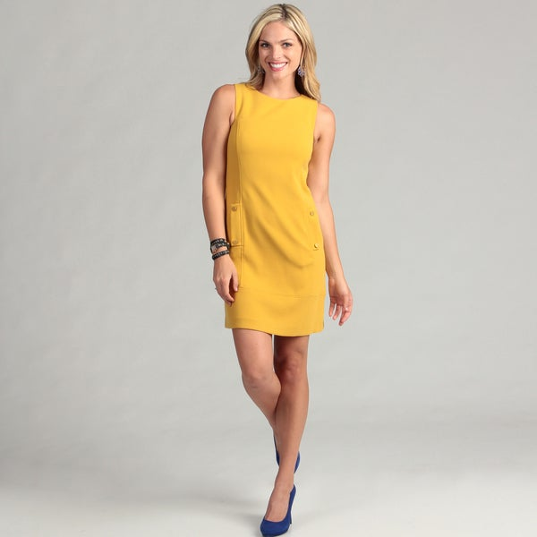 Eliza J Women's Mustard Sheath Dress