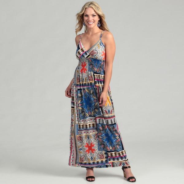 Emma & Michelle Women's Blue Maxi Dress